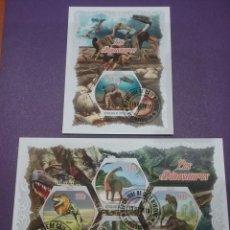 Sellos: HB COSTA MARFIL (COTE D,IVOIRE) MTDOS/2018/FAUNA/ANIMALES/PREHISTORICOS/DINOSAURIO/ARBOLES/FLORES/FL. Lote 269134663