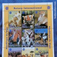 Sellos: TIGRES NIGERIA SERIE 9 SELLOS EN HB SELLOS USADOS. Lote 269959338