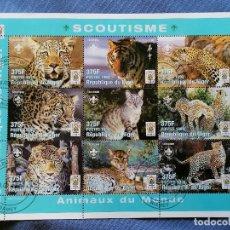 Sellos: TIGRES NIGERIA SERIE 9 SELLOS EN HB SELLOS USADOS. Lote 270207248