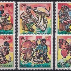 Timbres: F-EX24381 TOGO MNH 1990 BOYS SCOUT BUTTERFLIES PAPILLON MARIPOSAS HONGOS.. Lote 271541713