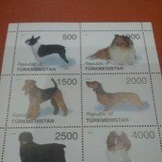Selos: HB TURKMENISTÁN NUEVOS/1998/PERROS/ANIMALES/CANES/DOMESTICOS/MAMIFERO//. Lote 275560328