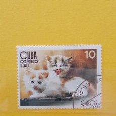Sellos: SELLO TEMÁTICO CUBA - GAT. Lote 276065328