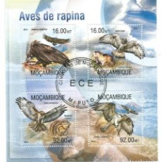 Timbres: HOJA BLOQUE DE MOZAMBIQUE AVES DE RAPIÑA. Lote 276337588