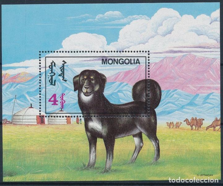 MONGOLIA 1991 HB IVERT 166 *** FAUNA - PERROS (Sellos - Temáticas - Fauna)