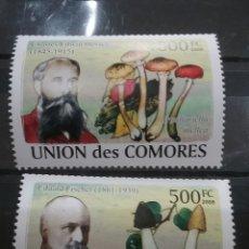 Sellos: SELLO COMORAS (I. COMORES) NUEVO/2008/MICOLOGOS/PLANTAS/HONGOS/SETAS/CHAMPIÑONES/FAUNA/LEER DESCRIPC. Lote 277064913