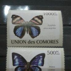 Sellos: SELLO COMORAS (I. COMORES) NUEVO/2009/MARIPOSA/POLILLA/INSECTO/FAUNA/LEER REGALO DESCRIPCION. Lote 277066013