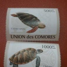 Sellos: SELLO COMORAS (I. COMORES) NUEVO/2009/FAUNA/VIDA/MARINA/TORTUGA/VERDE/BOBA/REPTIL/OVIPAROS/. Lote 277066598