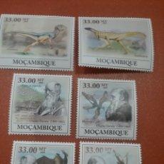 Selos: SELLO MOZAMBIQUE NUEVOS/2009/250ANIV/CHARLES/DARWIN/DINOSAURIO/ANIMALES/EVOLUCION/FAUNA/AVES. Lote 277081523