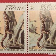 Sellos: 2 SELLOS LAGARTO GIGANTE DE EL HIERRO FAUNA. Lote 277136553