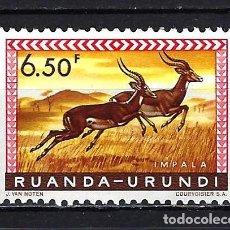 Sellos: 1959 RUANDA-URUNDI - YVERT 170 IMPALA - MNH** NUEVO SIN FIJASELLOS. Lote 277231958