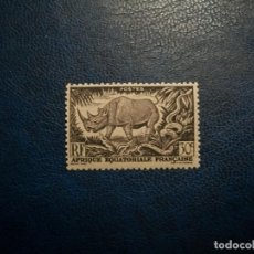 Timbres: /28.07/-AFRICA ECUATORIAL/COLONIA FRANCESA-1947-30 C. Y&T 209 EN NUEVO SIN GOMA (*MH)-FAUNA. Lote 277695143