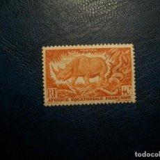 Timbres: /28.07/-AFRICA ECUATORIAL/COLONIA FRANCESA-1947-40 C.. Y&T 210 EN NUEVO SIN GOMA (*MH)-FAUNA. Lote 277695218