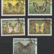 Selos: UZBEKISTAN 1995 MARIPOSAS 5 SELLOS USADOS * LEER DESCRIPCION. Lote 278289453