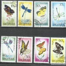 Sellos: 093- ALBANIA SERIE COMPLETA NATURALEZA INSECTOS 1966 Nº 872/9 BONITOS.. Lote 278964688