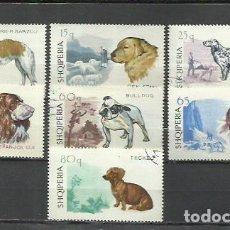 Sellos: 095- ALBANIA SERIE COMPLETA NATURALEZA PERROS CANES 1966 Nº 932/8 BONITOS. Lote 278965598