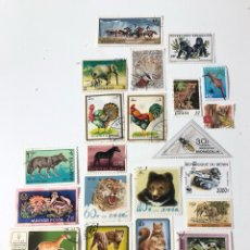 Sellos: LOTE 25 SELLOS USADOS DE ANIMALES (422). Lote 279358698