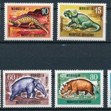 Sellos: MONGOLIA 1967 IVERT 405/12 *** FAUNA PREHISTÓRICA - DINOSAURIOS. Lote 280793263