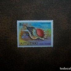 Francobolli: /24.08/-AITUTAKI-1974-8 C. Y&T 101 EN NUEVO SIN GOMA(*MH)-FAUNA MARINA. Lote 283723558