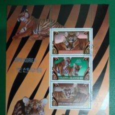 Sellos: COREA DEL NORTE AÑO 1982. TIGER (PANTHERA TIGRIS) MI:KP BL117A,. Lote 285161703