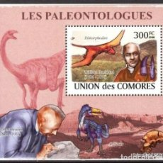 Timbres: UNION DE COMORES 2008 HOJA BLOQUE SELLOS PALEONTOLOGOS Y FAUNA PREHISTORICA- DINOSAURIOS- DINOSAURIO. Lote 287263698