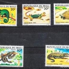 Sellos: 1976 MALI REPTILES **. Lote 287695208