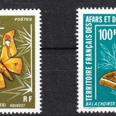 Sellos: AFARS ET ISSAS 1976 MARIPOSAS N. 420-421 SERIE **. Lote 287720983