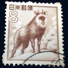 Sellos: MICHEL JP 588 - JAPÓN - FAUNA, FLORA AND NATIONAL TREASURES (1952-68). Lote 288129298