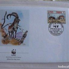Sellos: SOBRE PRIMER DIA DE ETIOPIA CABRA MONTES DE ETIOPIA 1990. Lote 292266703