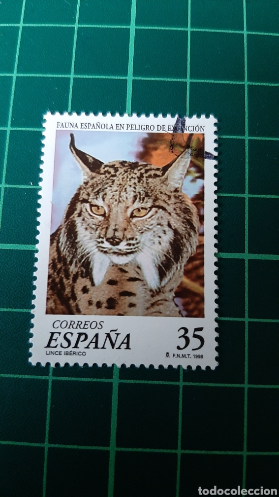 EDIFIL 3529 USADA LUJO FAUNA ESPAÑOLA LINCE 1998 FILATELIA COLISEVM (Sellos - Temáticas - Fauna)