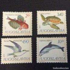 Sellos: YUGOSLAVIA Nº YVERT 1717/0*** AÑO 1980. FAUNA. PECES. Lote 294500533
