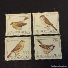 Sellos: YUGOSLAVIA Nº YVERT 1811/4*** AÑO 1982. FAUNA. AVES. Lote 294500593