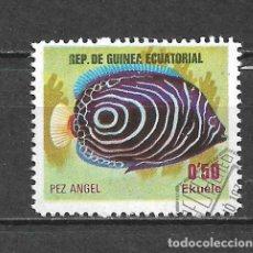 Sellos: GUINEA ECUATORIAL SELLO USADO FAUNA PECES - 5/35. Lote 295003093