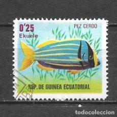 Sellos: GUINEA ECUATORIAL SELLO USADO FAUNA PECES - 5/35. Lote 295003118