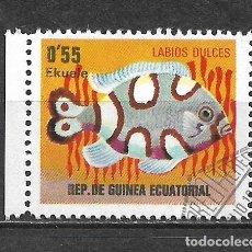 Sellos: GUINEA ECUATORIAL SELLO USADO FAUNA PECES - 5/35. Lote 295003133