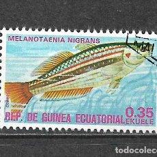 Sellos: GUINEA ECUATORIAL SELLO USADO FAUNA PECES - 5/35. Lote 295003158