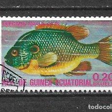 Sellos: GUINEA ECUATORIAL SELLO USADO FAUNA PECES - 5/35. Lote 295003188
