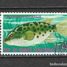Sellos: GUINEA ECUATORIAL SELLO USADO FAUNA PECES - 5/35. Lote 295003208