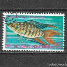 Sellos: GUINEA ECUATORIAL SELLO USADO FAUNA PECES - 5/35. Lote 295003238
