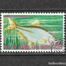 Sellos: GUINEA ECUATORIAL SELLO USADO FAUNA PECES - 5/35. Lote 295003288