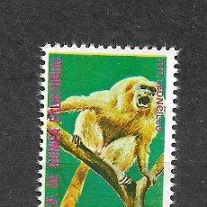 Sellos: GUINEA ECUATORIAL SELLO USADO FAUNA MONOS - 5/35. Lote 295003618