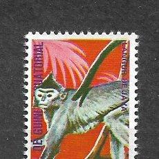 Sellos: GUINEA ECUATORIAL SELLO USADO FAUNA MONOS - 5/35. Lote 295003628