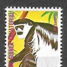 Sellos: GUINEA ECUATORIAL SELLO USADO FAUNA MONOS - 5/35. Lote 295003668