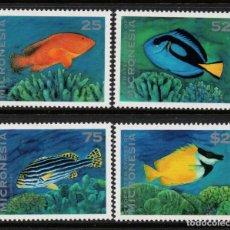 Sellos: MICRONESIA 310/13** - AÑO 1994 - FAUNA - PECES. Lote 295355208