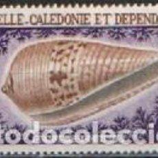 Sellos: NUEVA CALEDONIA AEREO IVERT Nº 100, CONO ESCARLATA (MOLUSCO), NUEVO ***. Lote 295483553