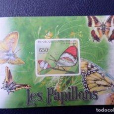 Sellos: .REPUBLICA CENTROAFRICANA, 2011 HOJITA BLOQUE SIN DENTAR, MARIPOSAS. Lote 295510708