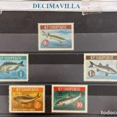 Sellos: FAMA207, ALBANIA, PECES, 1964, 671/76. Lote 295935828