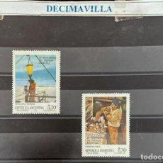 Sellos: FAMA208, ARGENTINA, FAUNA MARINA, 1987, 1557/58. Lote 295938138
