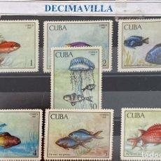 Sellos: FAMA211, CUBA, PECES, 1969, 1294/00. Lote 295944998