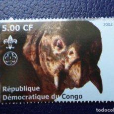 Sellos: .REPUBLICA DEMOCRATICA DEL CONGO, 2002, DINOSAURIOS. Lote 297086778