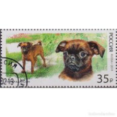 Sellos: ⚡ DISCOUNT RUSSIA 2019 DECORATIVE DOG BREEDS - PETIT BRABANCON U - DOGS. Lote 297357938